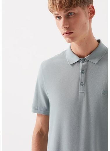Mavi  Polo Tişört Gri